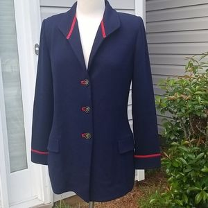ST JOHN COLLECTION by Marie Gray Jacket Navy/Red 8